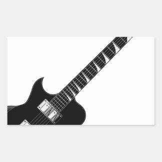 Guitarra eléctrica pegatina rectangular