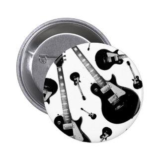 Guitarra eléctrica pin redondo de 2 pulgadas