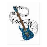 Guitarra eléctrica postales