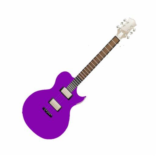 guitarra eléctrica purple.png escultura fotografica