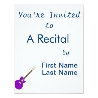 """guitarra eléctrica purple.png invitación 4.25"""" x 5.5"""""""