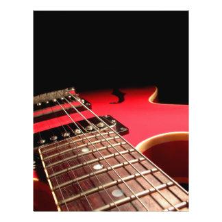 "Guitarra eléctrica roja folleto 8.5"" x 11"""