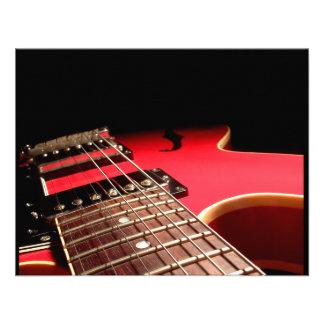 Guitarra eléctrica roja invitación