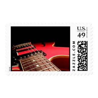 Guitarra eléctrica roja sello