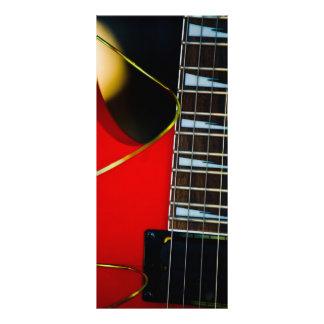 Guitarra eléctrica roja diseños de tarjetas publicitarias