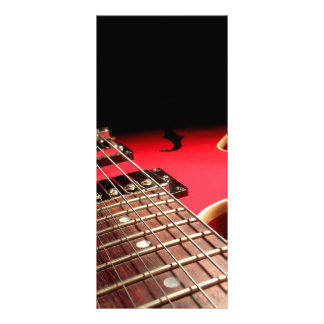 Guitarra eléctrica roja lonas publicitarias