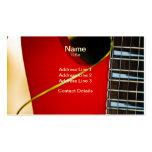 Guitarra eléctrica roja tarjetas de visita