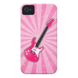 Guitarra eléctrica rosada femenina iPhone 4 carcasas