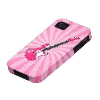 Guitarra eléctrica rosada femenina iPhone 4/4S carcasa