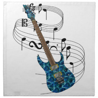 Guitarra eléctrica servilletas