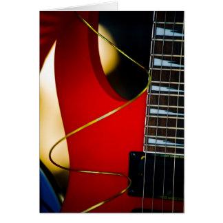Guitarra eléctrica tarjeta de felicitación