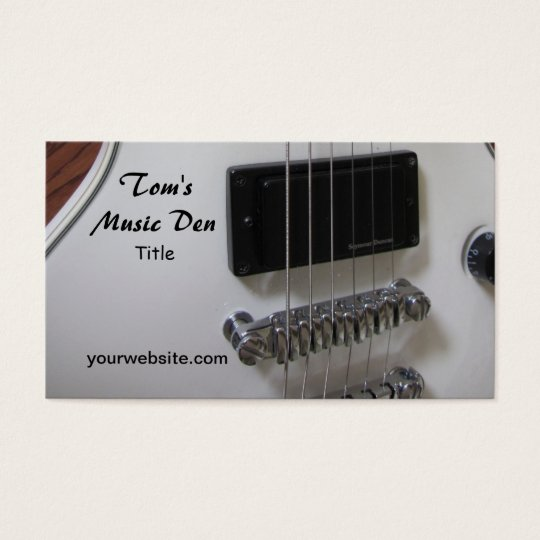Guitarra eléctrica tarjetas de visita