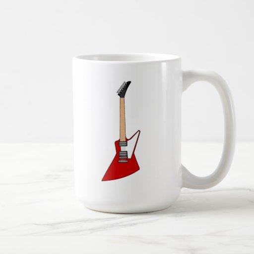 Guitarra eléctrica taza de café
