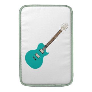 guitarra eléctrica teal png funda macbook air