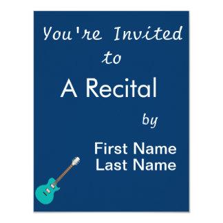 "guitarra eléctrica teal.png invitación 4.25"" x 5.5"""