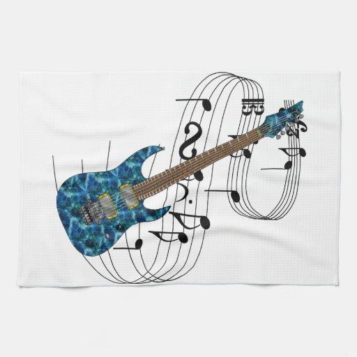 Guitarra eléctrica toalla
