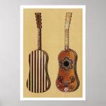 Guitarra embutida con nacarado, de 'Musical Poster