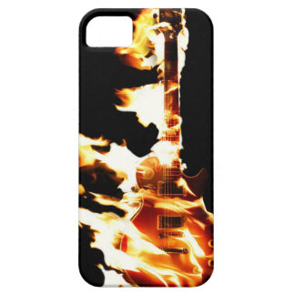 Guitarra en caso del iPhone 5 de las llamas iPhone 5 Case-Mate Carcasa