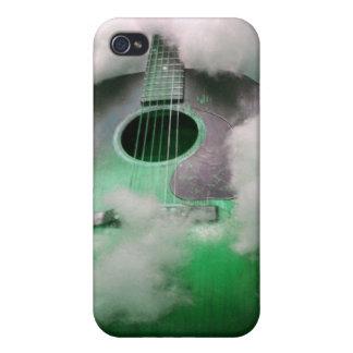 Guitarra en caso del teléfono de las nubes iPhone 4/4S fundas