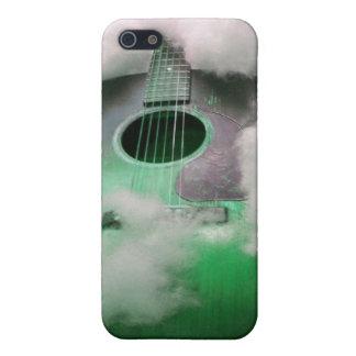 Guitarra en caso del teléfono de las nubes iPhone 5 fundas