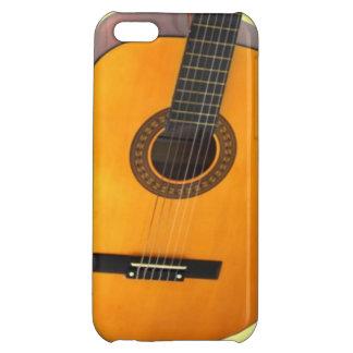 Guitarra en el caso del iPhone 5 de la portada