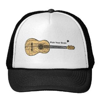 Guitarra: Escoja su cerebro Gorros Bordados