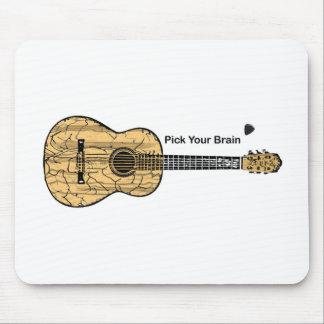 Guitarra: Escoja su cerebro Tapetes De Raton
