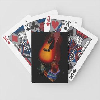 Guitarra española barajas de cartas