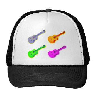 Guitarra española clásica del arte pop gorros bordados