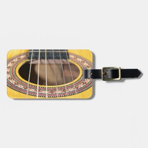 Guitarra española etiquetas para maletas