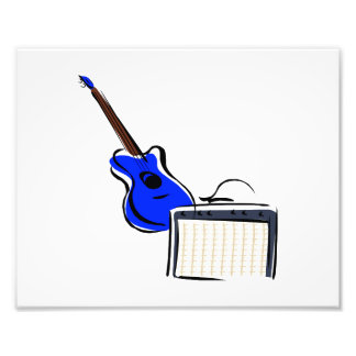 guitarra estilizada amperio blue.png arte fotográfico