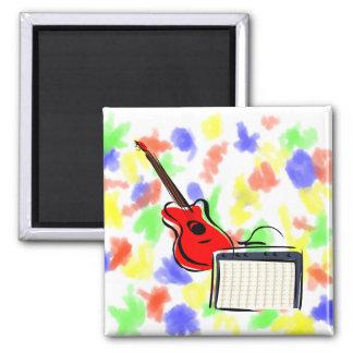 guitarra estilizada amperio red.png imán cuadrado