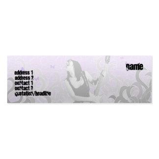 Guitarra - flaca tarjeta de visita