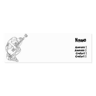 Guitarra - flaca plantillas de tarjeta de negocio