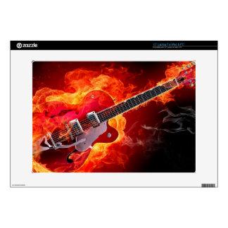 Guitarra flameada calcomanías para 38,1cm portátiles