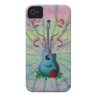 Guitarra floral funda para iPhone 4 de Case-Mate