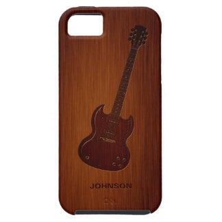 Guitarra fresca con el palo de rosa de encargo del iPhone 5 protectores