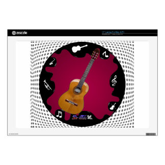 """GUITARRA GIFTS CUSTOMIZABLE PRODUCTS 17"""" LAPTOP DECAL"""