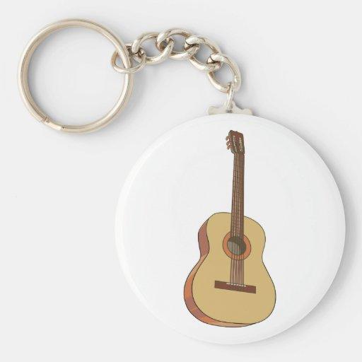Guitarra guitar llavero redondo tipo pin
