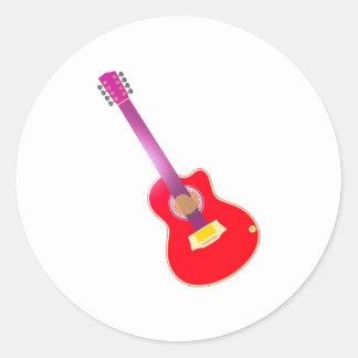 Guitarra guitar pegatina redonda