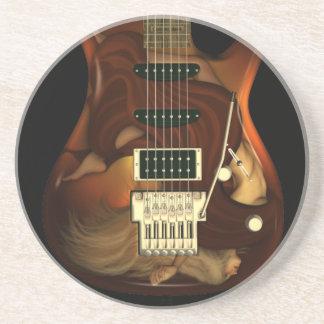 Guitarra ideal - práctico de costa de la piedra ar posavasos personalizados