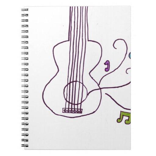 Guitarra Libros De Apuntes Con Espiral