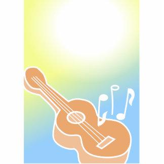 Guitarra linda fotoescultura vertical