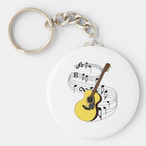 Guitarra Llavero Redondo Tipo Pin