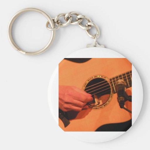 ¡Guitarra! Llavero Redondo Tipo Pin