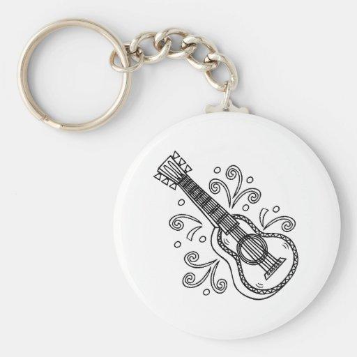 guitarra llaveros