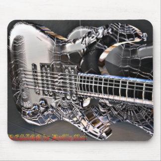 Guitarra negra del Web Alfombrilla De Ratones