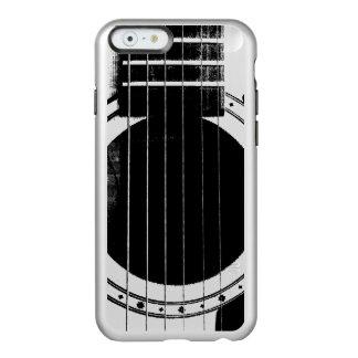 Guitarra negra y de plata del vintage funda para iPhone 6 plus incipio feather shine