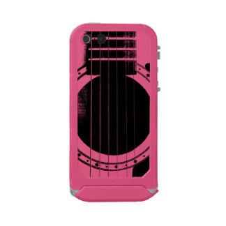 Guitarra negra y rosada del vintage carcasa de iphone 5 incipio atlas id