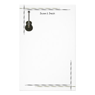 Guitarra oscura  papeleria de diseño